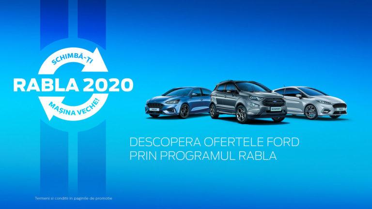 Descoperă ofertele Ford prin Programul RABLA.